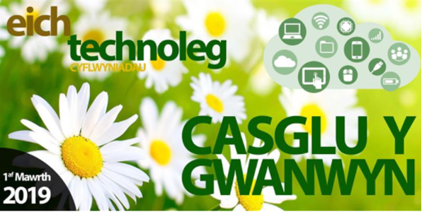 Your Tech Spring banner in Welsh