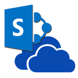 OneDrive and SharePoint logos